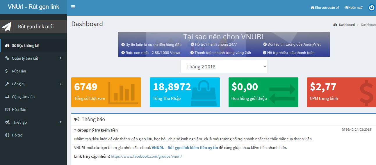 thanh qua - Hướng dẫn tạo Web kiếm tiền từ link rút gọn