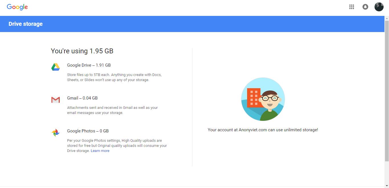 Cách đăng ký Google Drive không giới hạn 12