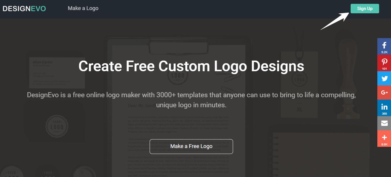 DesignEvo logo Home