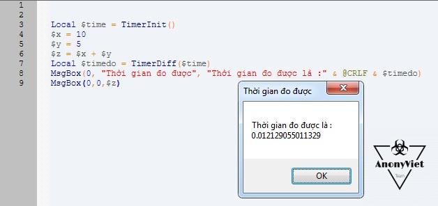 Cách đo thời gian chạy 1 lệnh trong AutoIT 4