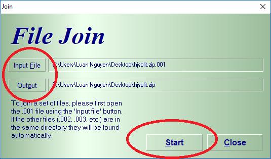 Cách cắt, ghép File đơn giản bằng phần mềm HJsplit 11