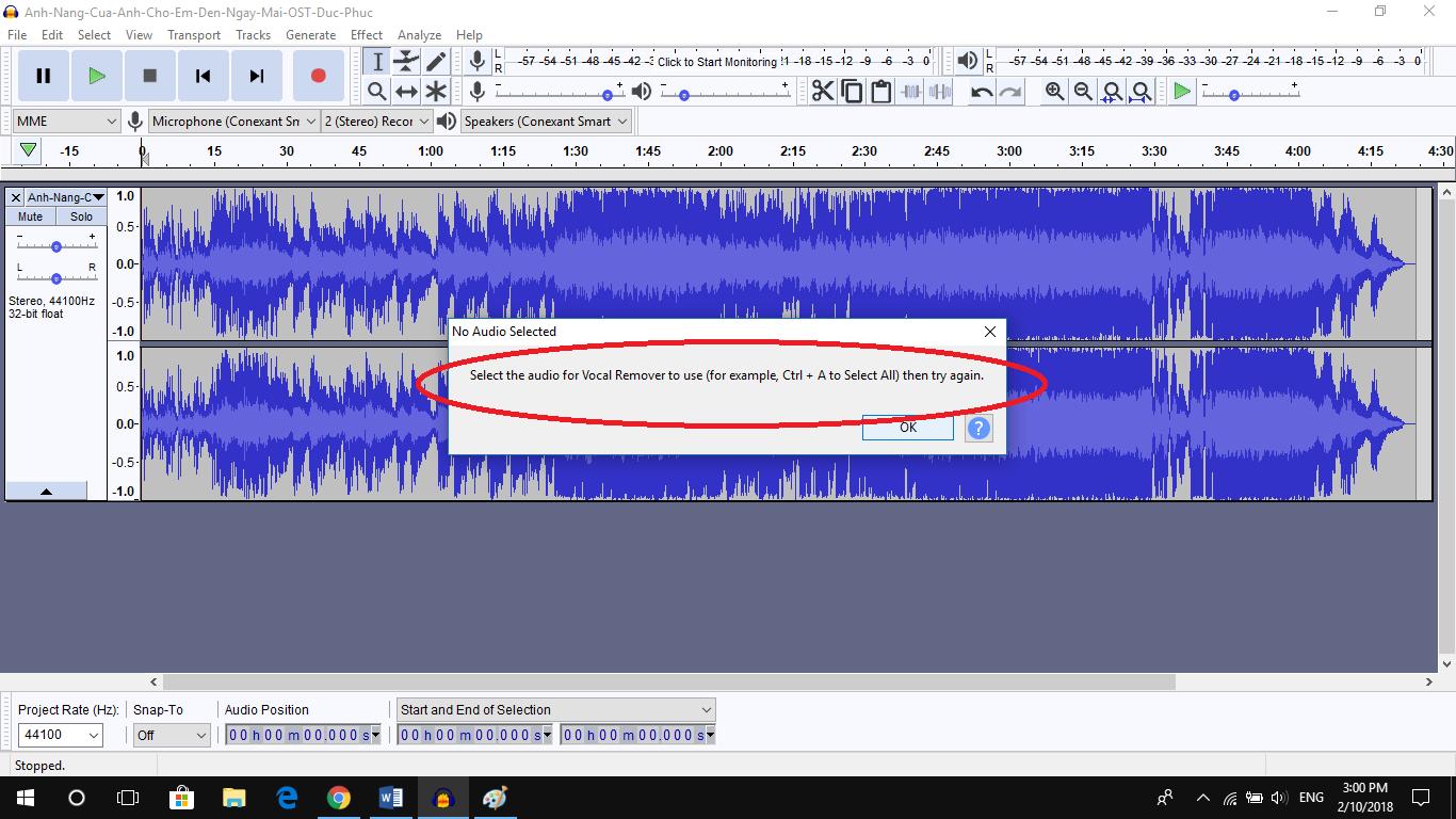 Cách tách beat từ bài hát có lời bằng Audacity