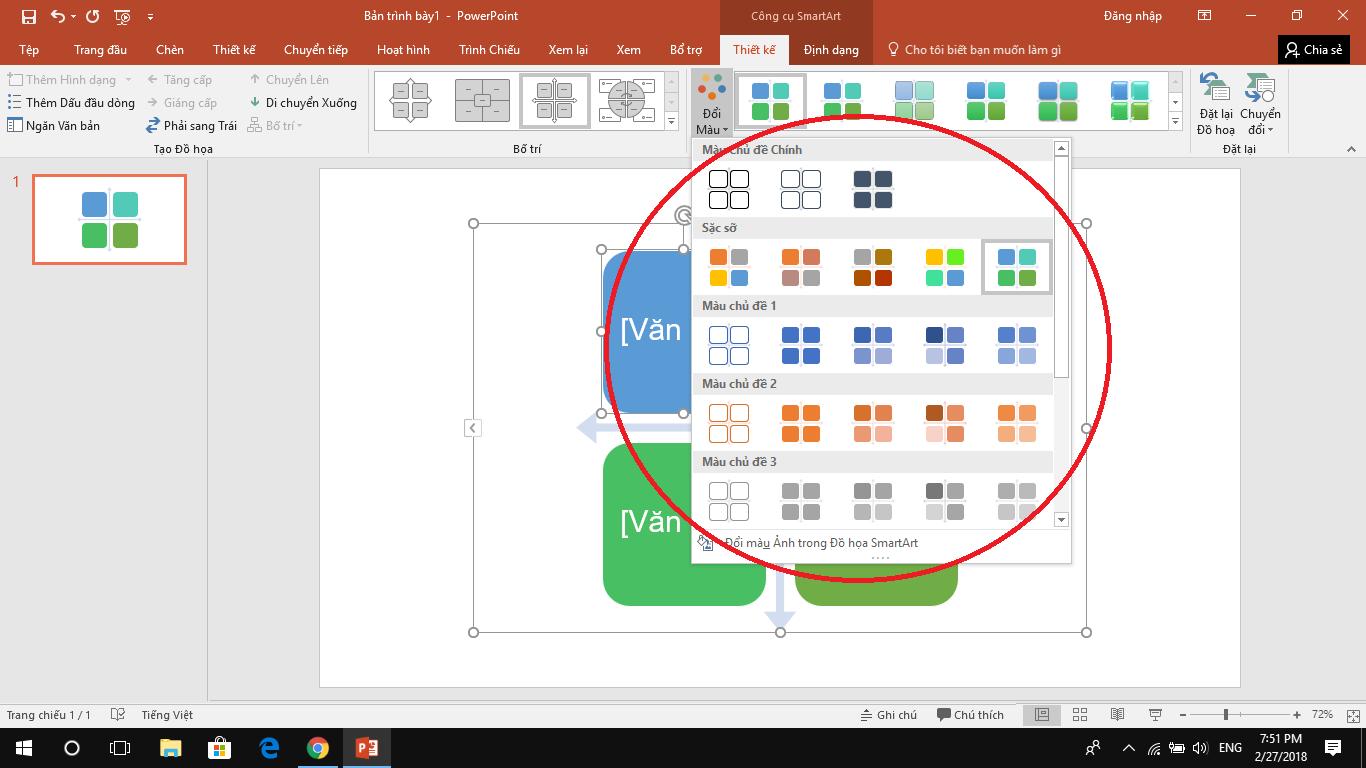 Hướng dẫn dùngSmartArt để tạo biểu đồ trên PowerPoint 33