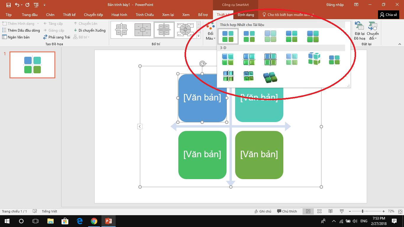 Hướng dẫn dùngSmartArt để tạo biểu đồ trên PowerPoint 34