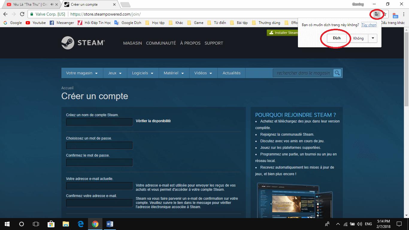 10 2 - Hướng dẫn tải và đăng ký Steam để chơi game bản quyền