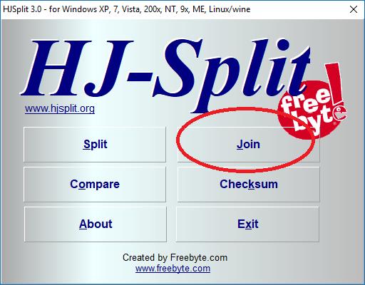 Cách cắt, ghép File đơn giản bằng phần mềm HJsplit 10