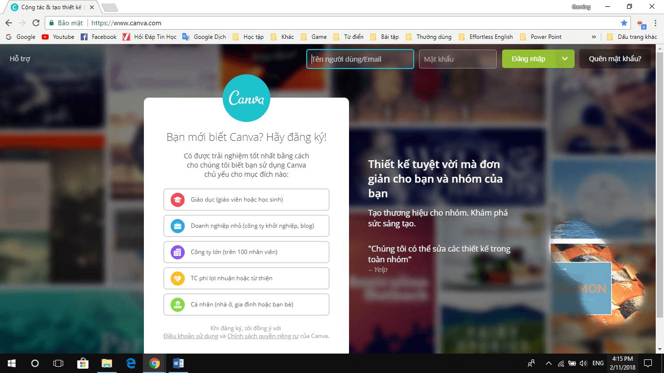 Canva - Website chỉnh sửa ảnh online tốt nhất hiện nay