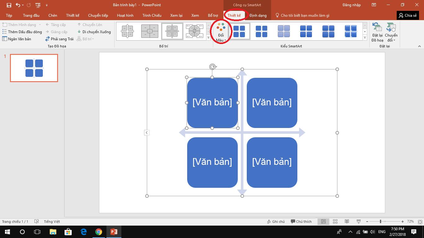 Hướng dẫn dùngSmartArt để tạo biểu đồ trên PowerPoint 32