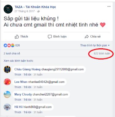 5 - Cách lấy Email (Gmail) hàng loạt từ bình luận Facebook