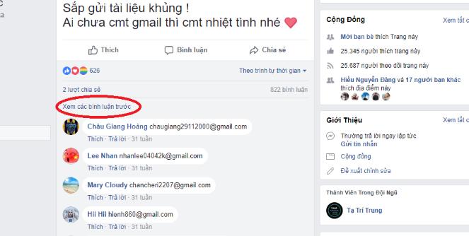 6 - Cách lấy Email (Gmail) hàng loạt từ bình luận Facebook