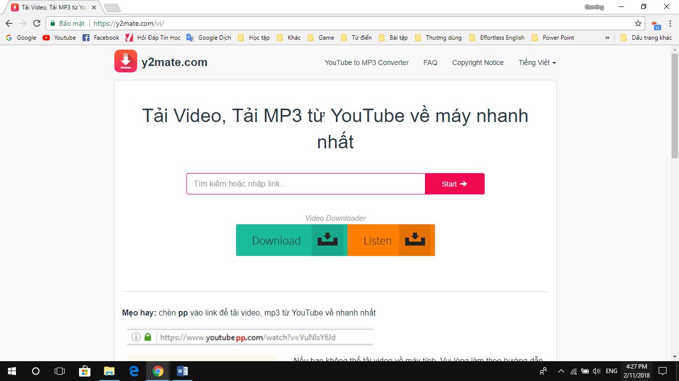 Y2Mate - Website hay và cực kỳ tiện ích