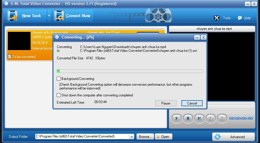 Cách dùng Total Video Converter để đổi đuôi video, nhạc 16