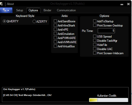 Capture 6 - Oni Keylogger v1.7 theo dõi máy tính Full Version 2018