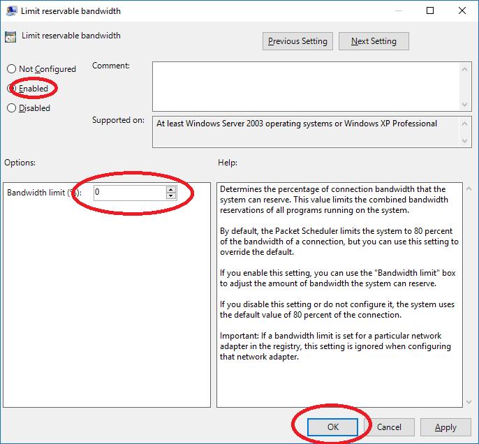 Cách tăng tốc độ truy cập Internet cho Windows 10 19