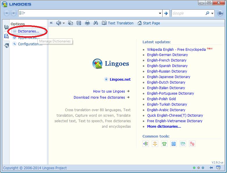 a 9 - Hướng dẫn cài đặt Lingoes - Phần mềm tra từ điển tốt nhất