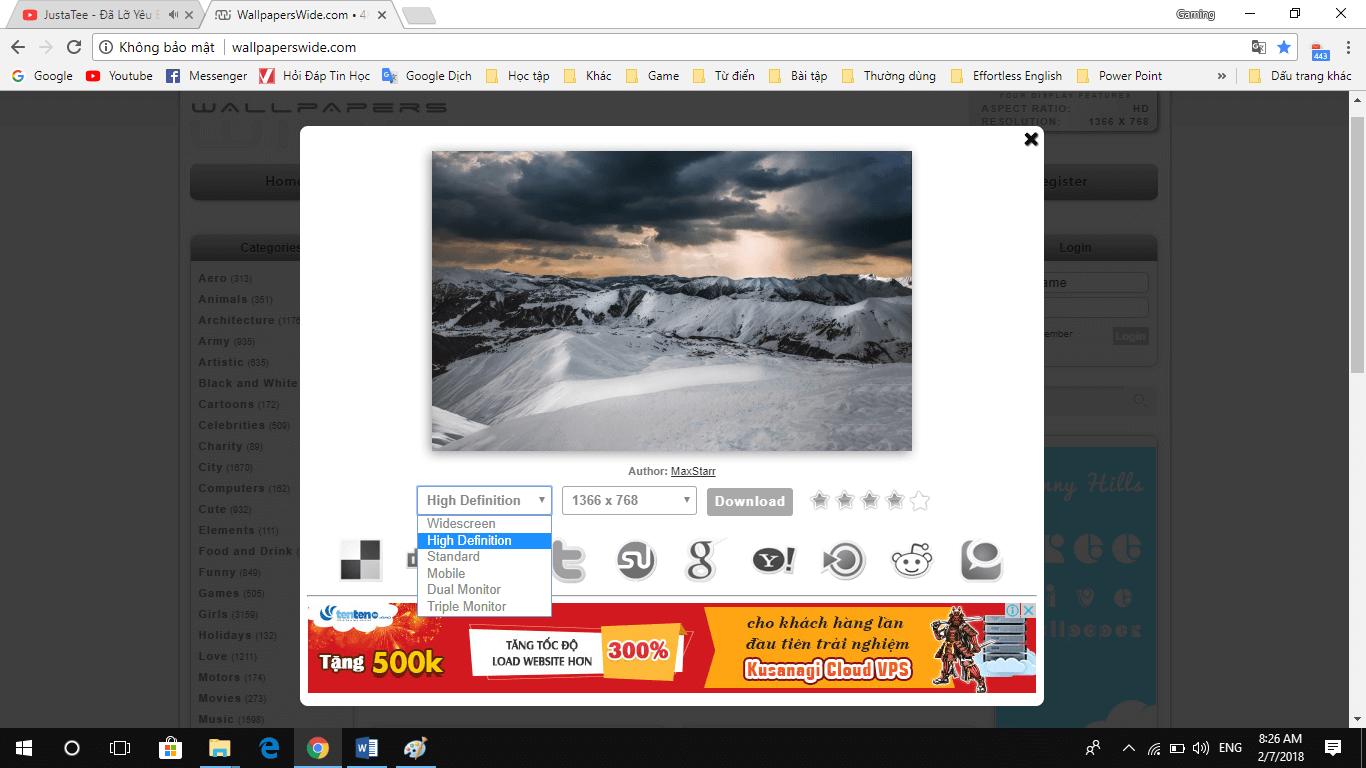 anv6 - Giới thiệu website cung cấp hình ảnh HD miễn phí đủ thể loại
