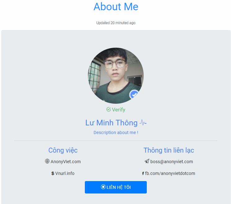 09 03 2018 09 16 01 - Share miễn phí bộ Code web Profile Page cực đẹp