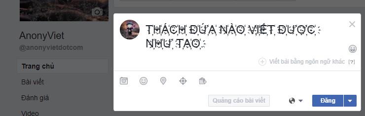 Hướng dẫn viết chữ kiểu lạ Faceboook