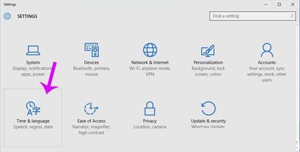 Hướng dẫn đổi ngôn ngữ Windows 10 sang tiếng việt