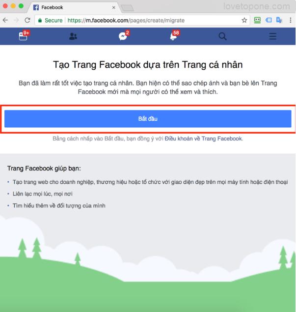 Hướng dẫn tạo fanpage từ facebook cá nhân mới nhất