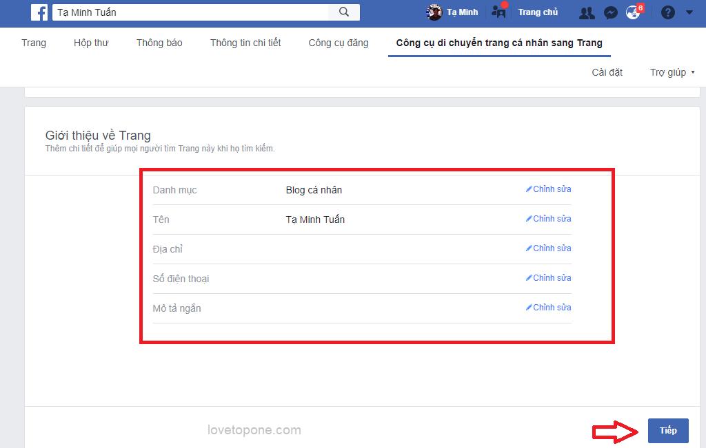 Cách tạo mới Facebook cá nhân thành Fanpage mới nhất 17