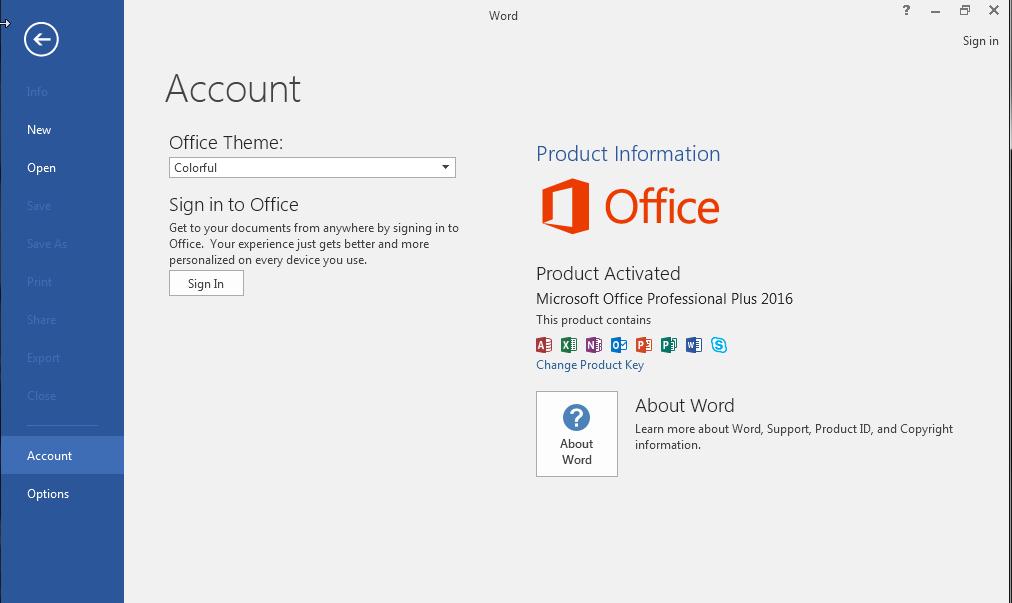 Kích hoạt trọn bộ Microsoft Office 2016 không cần phần mềm 23