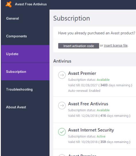 KEY bản quyền phần mềm diệt Virus Avast mới nhất 2018 6