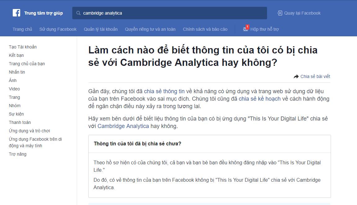 12 04 2018 10 55 31 - Cách kiểm tra Facebook của bạn có bị rò rỉ dữ liệu hay không