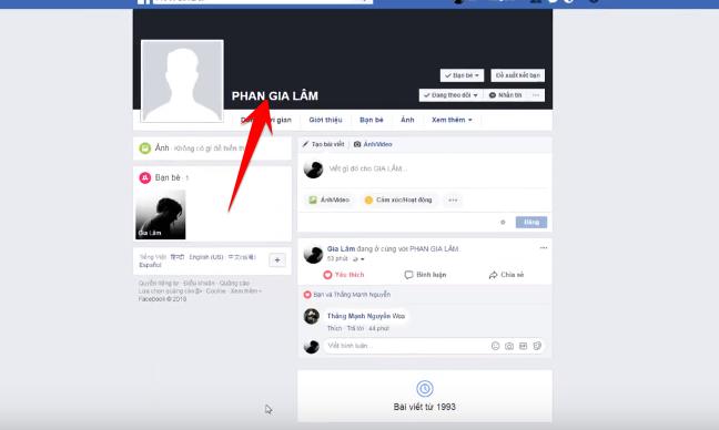 Hướng dãn đổi tên Facebook IN HOA