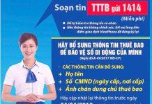 Cách đăng ký thông tin thuê bao Viettel, Vinaphone, Mobifone, Vietnamobile Online