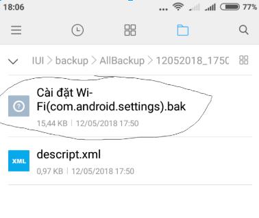 14 05 2018 05 54 51 - Cách xem lại mật khẩu wifi đã lưu trên điện thoại Android