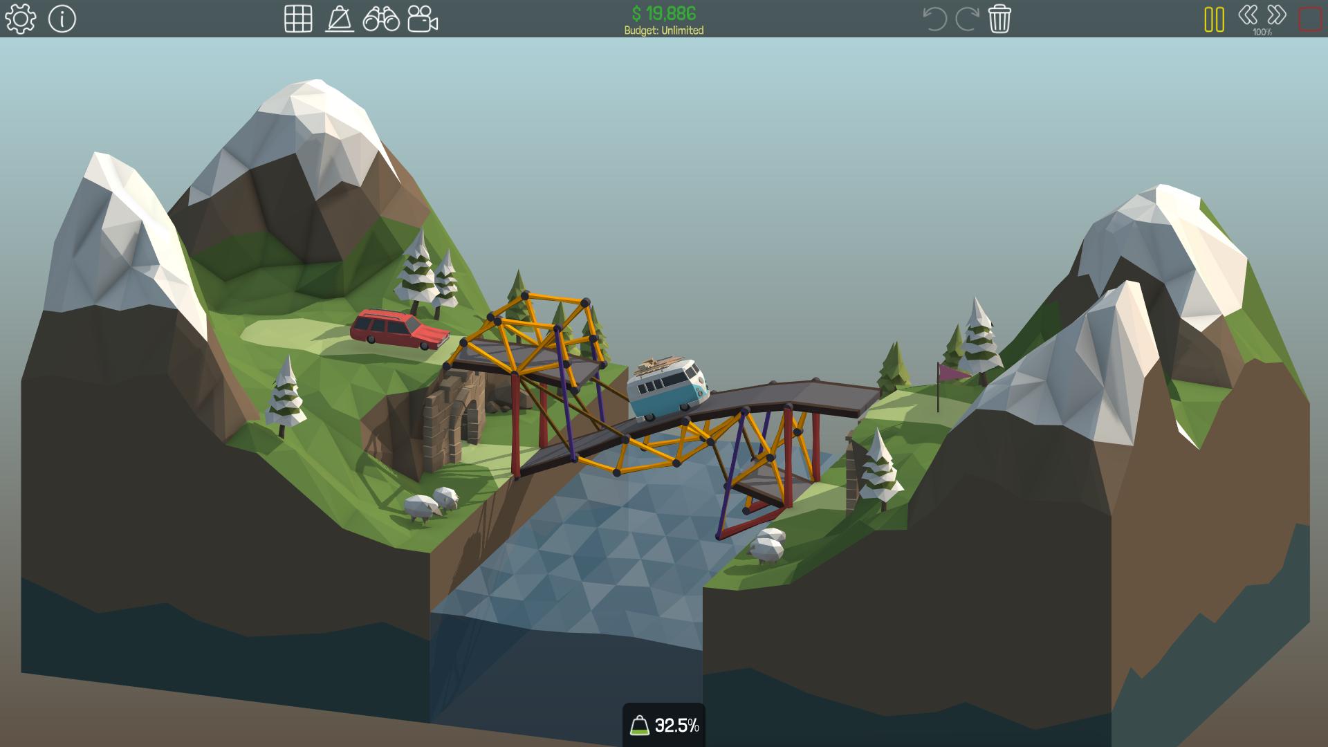 poly - Tải game Poly Bridge mô phỏng xây cầu độc đáo trên PC