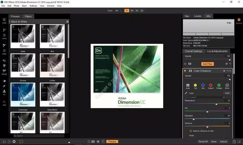 Tải phần mềm chỉnh sửa ảnh On1 Effects 2018 Full bản quyền 60$ 6
