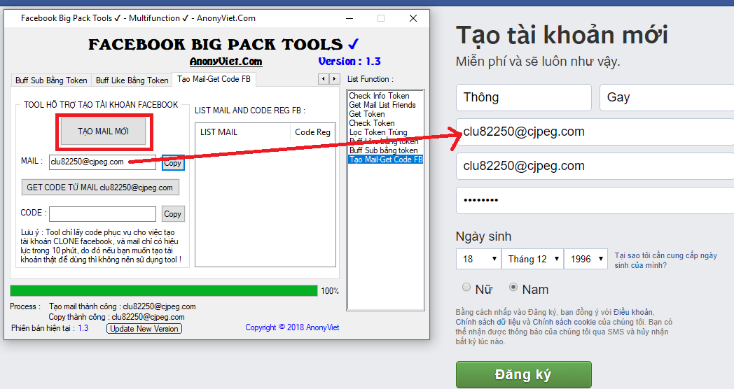 Facebook Big Pack Tools Version 1.6 by AnonyViet 37