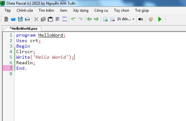 Olala Pascal - Trình biên soạn Pascal giao diện dễ sử dụng 5