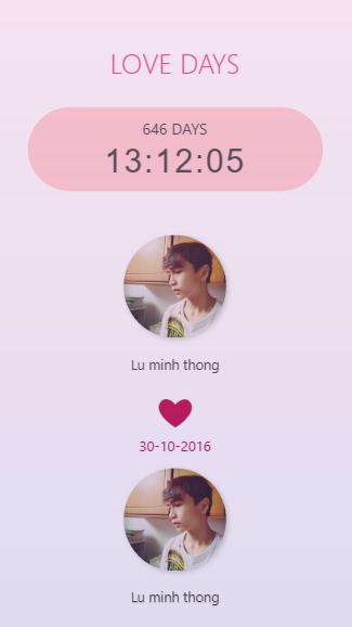 Hướng dẫn tự làm website đếm ngày yêu nhau cực dễ thương 14