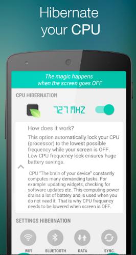 Hibernation Manager quản lý tiết kiệm PIN cho Android