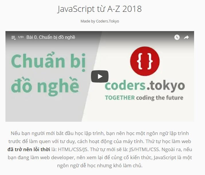 Khóa học lập trình web miễn phí từ Coders Tokyo 7