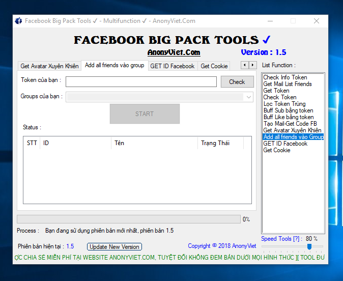 Facebook Big Pack Tools Version 1.6 by AnonyViet 31