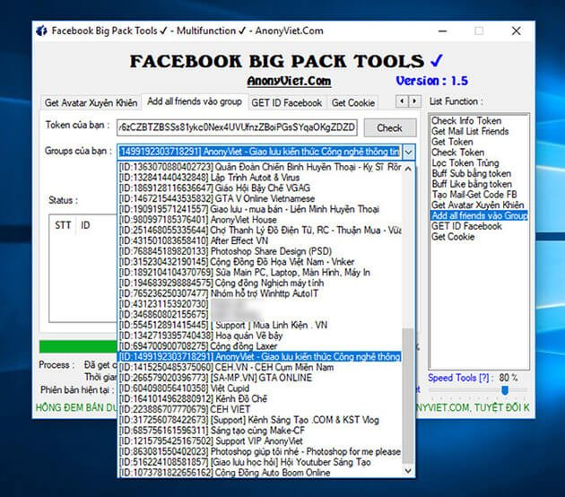 Facebook Big Pack Tools Version 1.6 by AnonyViet 32