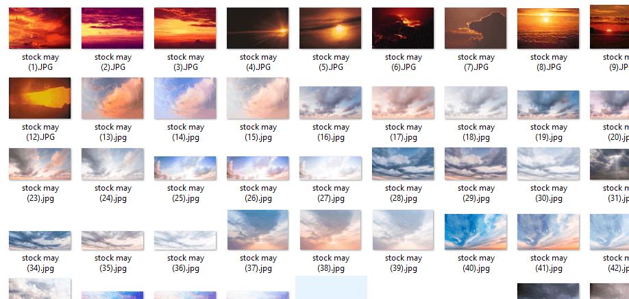 Tải miễn phí bộ Stock ảnh Mây Buổi Chiều HD 4K Cực Đẹp 19