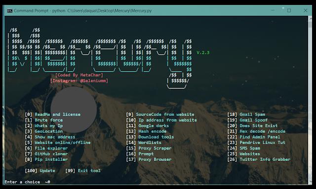 Mercury - Tool được Hacker sử dụng để thu thập thông tin nạn nhân 7