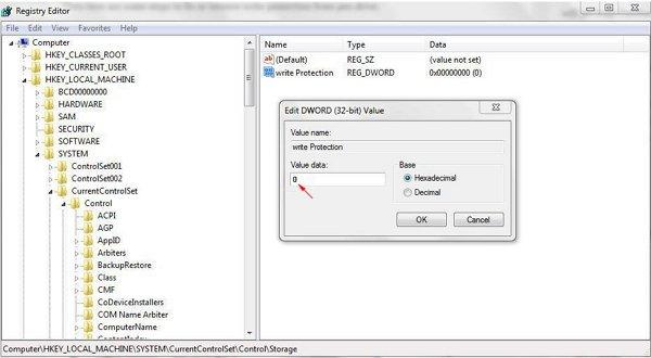 Loại bỏ bảo vệ ghi từ ổ cứng gắn trong / ổ cứng gắn ngoài, USB hoặc thẻ SD.