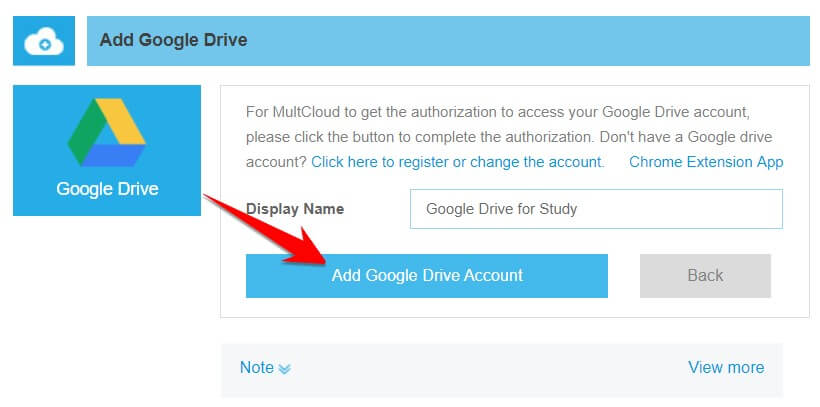 đặt tên drive multcloud