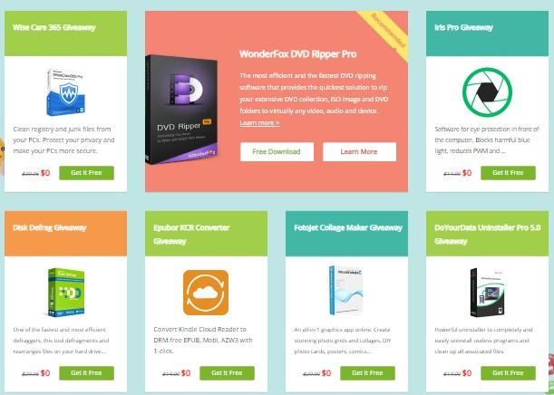 Tải nhanh 9 phần mềm bản quyền của trị giá 230$ của WonderFox
