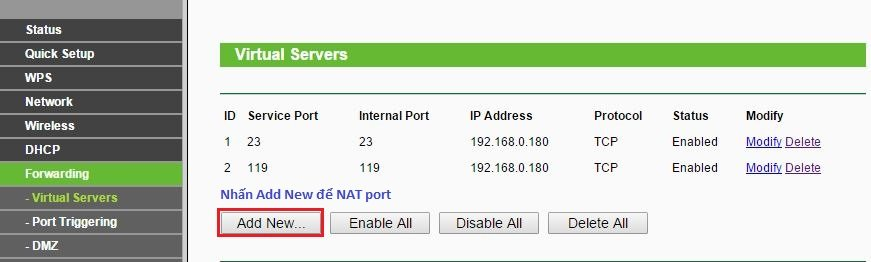 Hướng dẫn cấu hình No-IP, Nat Port ra Internet 17