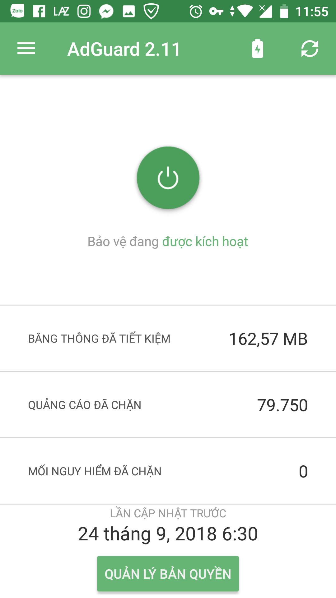 Hướng dẫn chặn quảng cáo trên các ứng dụng Android với Adguard 7