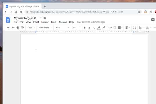 Hướng dẫn tự làm Blog mà không cần biết lập trình với Google Docs 12