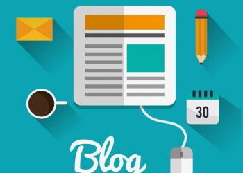 Blog concept with technology icons design, vector illustration 10 eps graphic.