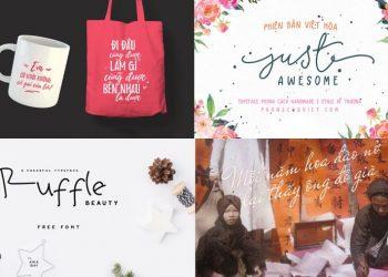 Share Trọn Bộ Full Font Chữ Viết Tay Việt Hóa Đẹp cho dân Design 5